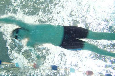 Wedstrijd zwemmen